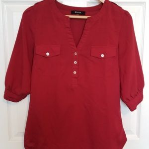 41 Hawthorn Stitch Fix Filbert burgundy blouse